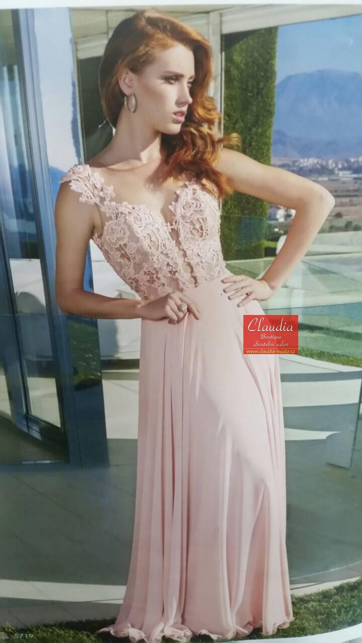 dlouhé společenské šaty prodej. Dlouhé šaty s krajkovým vrškem ... a7680b881c